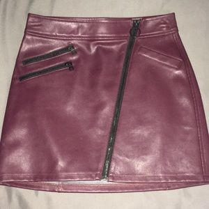 Pretty & Edgy Leather Skirt 🖤
